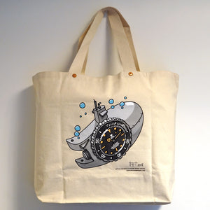 NOSTIME x WATCHES AND PENCILS CANVAS TOTE BAG