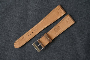 MOCHA NUBUCK CUSTOM MADE STRAP - FULL STITCHED