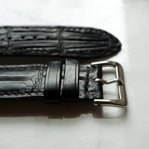 MATT BLACK CUSTOM MADE CROCODILE STRAP