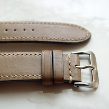 Load image into Gallery viewer, TAUPE GRAY BABY SMOOTH CALF CUSTOM MADE STRAP