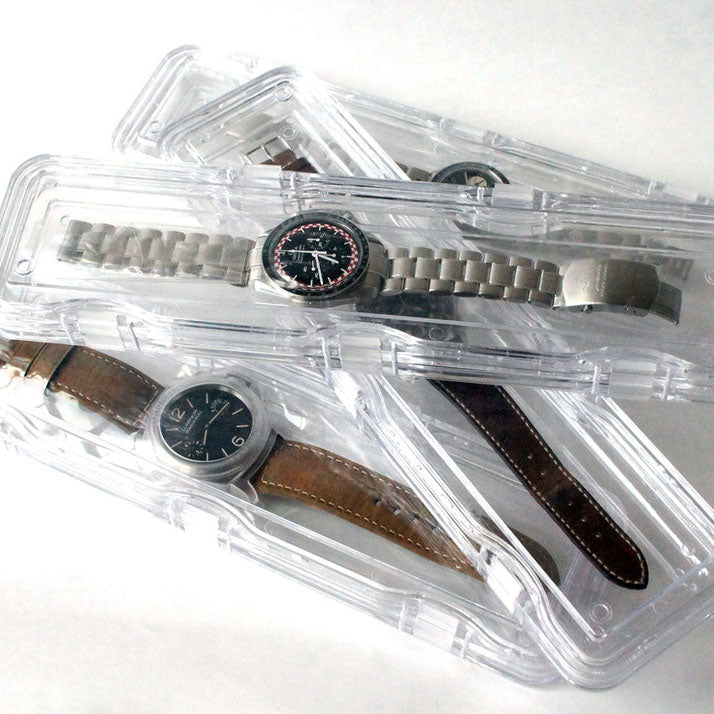 HARDENED ACRYLIC MEMBRANE CLEAR WATCH PROTECTOR CASE  4-PIECE BUNDLE