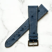 Load image into Gallery viewer, BRIGADE BLUE OSTRICH STANDARD STRAP