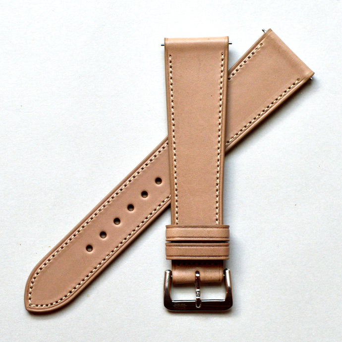 TAUPE BROWN BARENIA SMOOTH CALF STANDARD STRAP