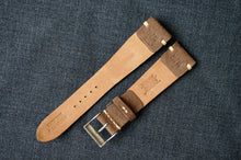 Load image into Gallery viewer, MOCHA NUBUCK CUSTOM MADE STRAP - SIDE STITCHED