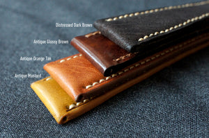ANTIQUE GLOSSY BROWN CUSTOM MADE STRAP
