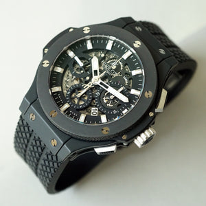 2011 HUBLOT 311.CI.1170.GR BIG BANG AERO BANG BLACK MAGIC CERAMIC SKELETON 2018 SERVICED