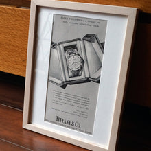 Load image into Gallery viewer, 1950s PATEK PHILIPPE TIFFANY REF.2552 VINTAGE AD PRINT WOOD FRAME