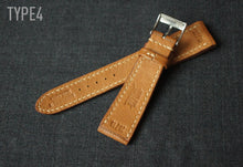 Load image into Gallery viewer, CAMEL TAN TEXTURED GOAT CUSTOM MADE STRAP