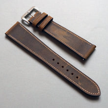Load image into Gallery viewer, TOBACCO BROWN DISTRESSED CALF STANDARD STRAP