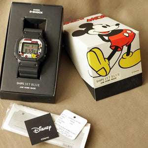 2010 CASIO G-SHOCK DW-5600VT JAM HOME MADE X SHIPS JET BLUE MICKEY EDITION MINT