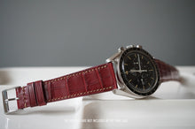 Load image into Gallery viewer, BURGUNDY CUSTOM MADE CROCODILE STRAP