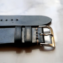 Load image into Gallery viewer, BLACK HORWEEN SHELL CORDOVAN CUSTOM MADE STRAP