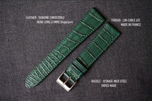 Load image into Gallery viewer, DARK GREEN CUSTOM MADE CROCODILE STRAP