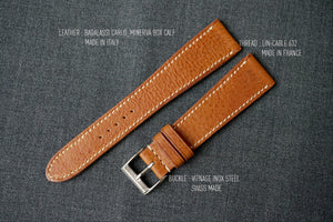 TAN BOX CALF CUSTOM MADE STRAP