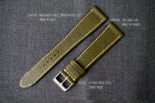 Load image into Gallery viewer, OLIVE GREEN BOX CALF CUSTOM MADE STRAP