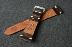 #8 BURGUNDY HORWEEN SHELL CORDOVAN CUSTOM MADE STRAP