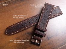 Load image into Gallery viewer, OILTAN BROWN RED WING BOOT CUSTOM MADE STRAP