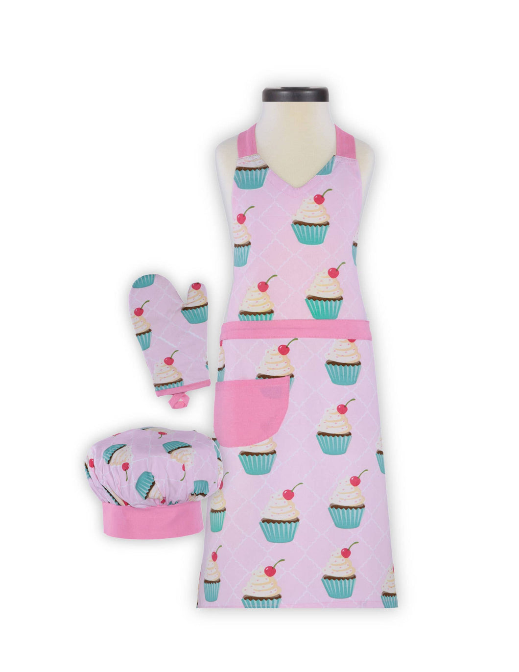 Cupcake Deluxe Child Apron Set