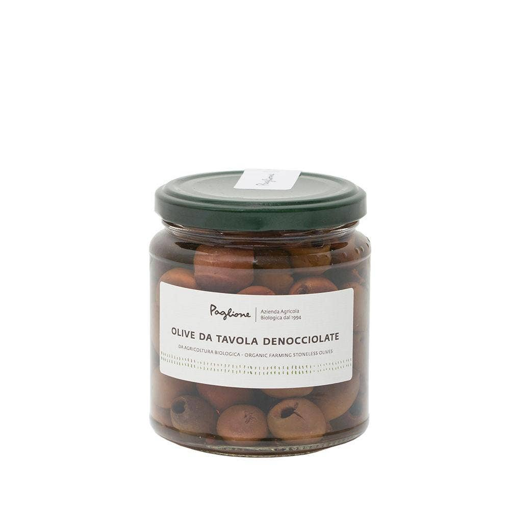 Organic Pitted Black Table Olives by Agricola Paglione