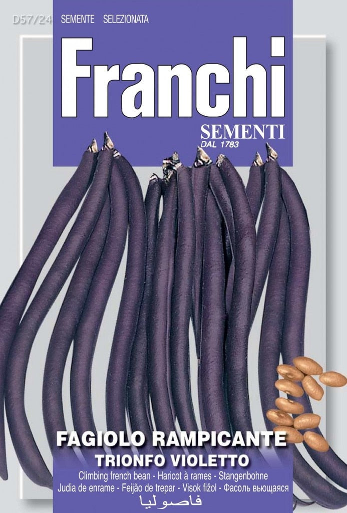 Seeds, Franchi Bean Trionfo Violetto