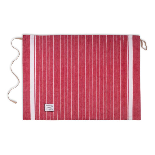 Dishtowel Apron, Red Classic Stripe