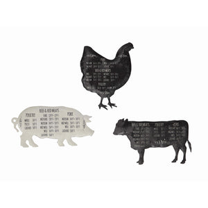Tin Farm Animal Magnet, each