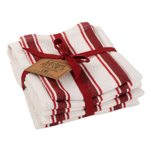Dish Towel, Garnet Stripe set of 3