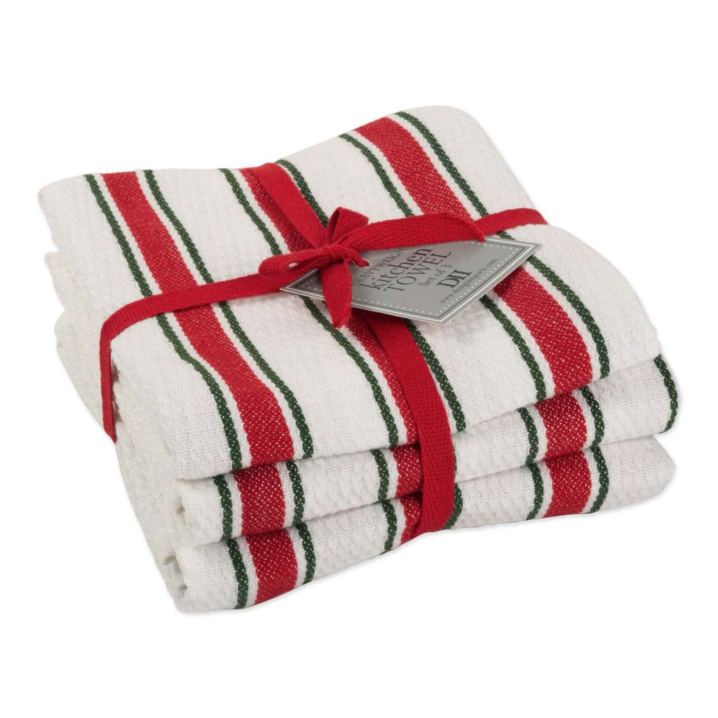 Dish Towel, Holiday Stripe Heavyweight set of 3