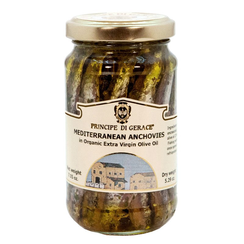 Mediterranean Anchovies, whole in Extra Virgin Olive Oil