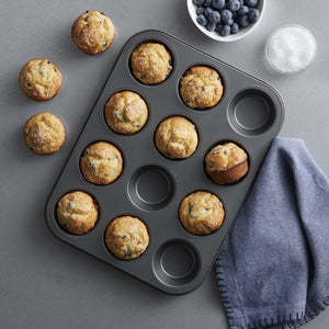12 Muffin Pan, Non Stick Carbon Steel