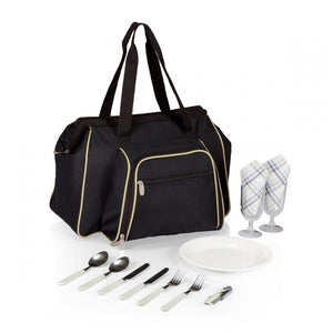 Picnic, Toluca Shoulder Pack for 2 black/tan