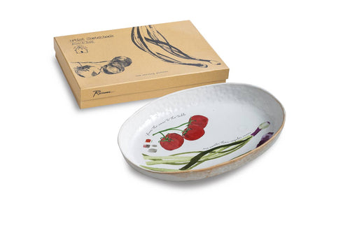 Farm To Table Platter Spring Onion (oval)