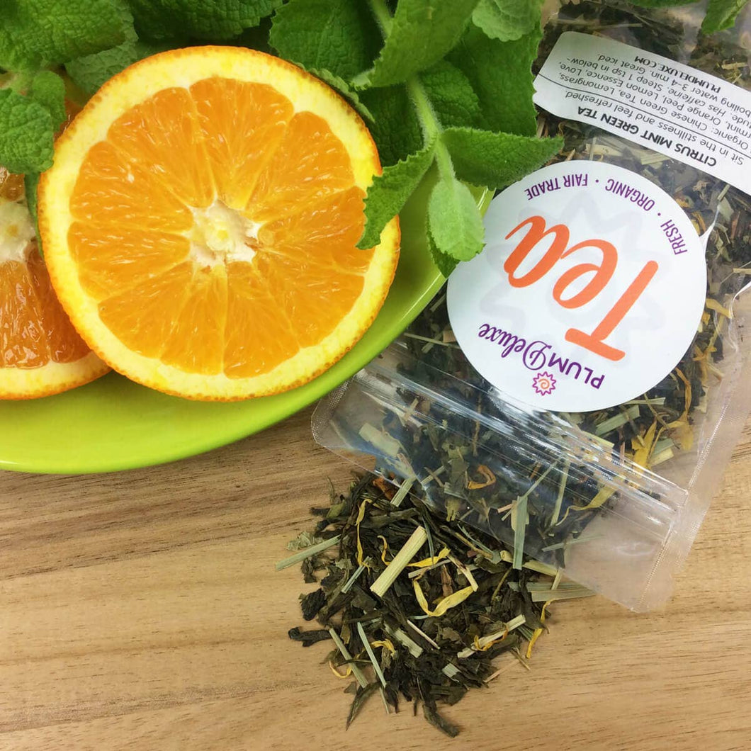 Citrus Mint Green Tea - Loose Leaf Blend