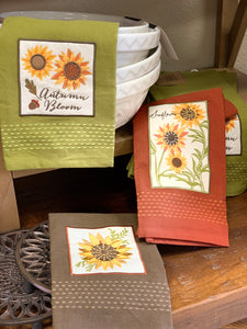 Dish towel, Rustic Sunflower Assorted