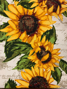 Table Runner, Rustic Sunflower