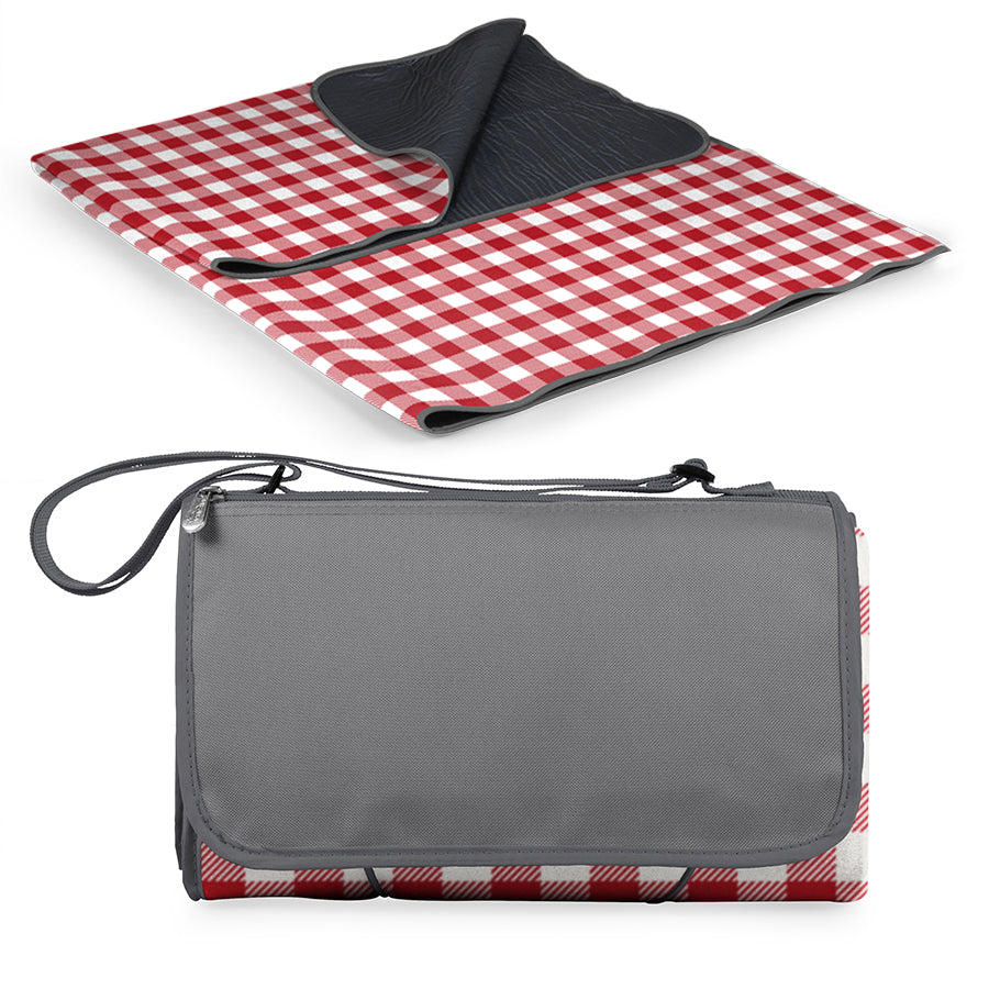 "Picnic, Blanket Tote 59"" x 51"" red check"
