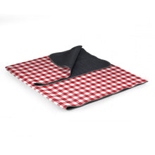 "Load image into Gallery viewer, Picnic, Blanket Tote 59"" x 51"" red check"