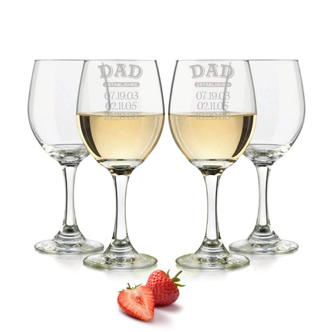 Dad established wine glass personalzied 20oz. / Laser engraved