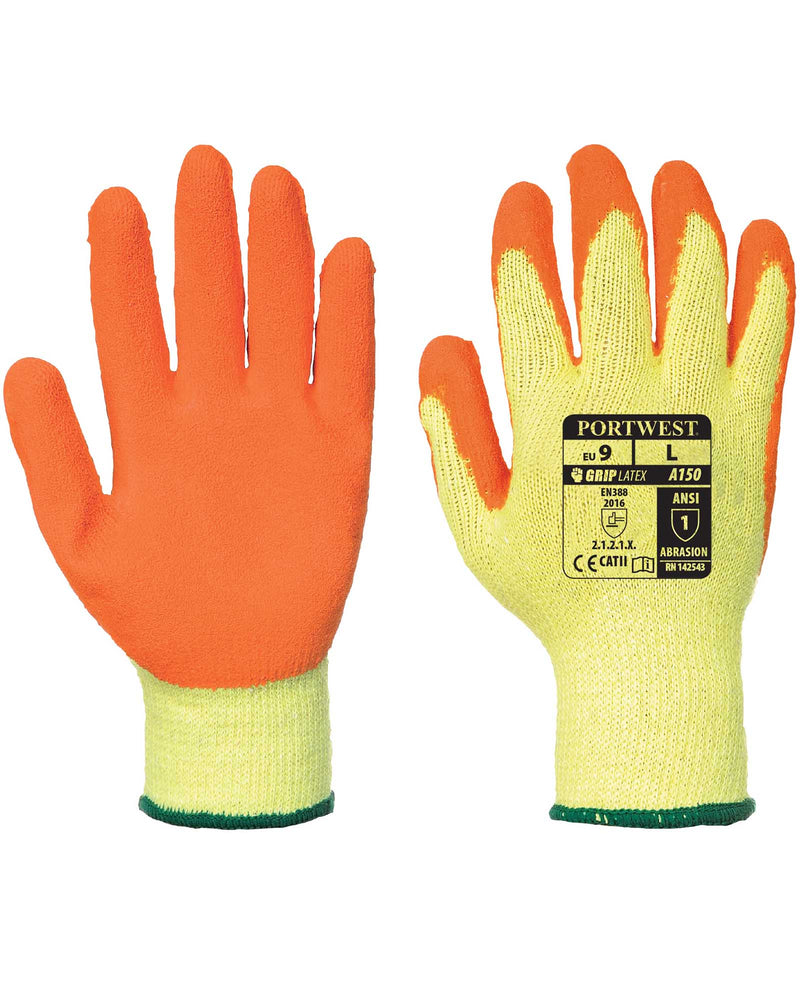 Portwest A150 Classic Latex Grip Gloves