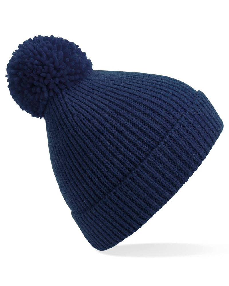 Beechfield B382 Engineered Knit Ribbed Pom Pom Beanie