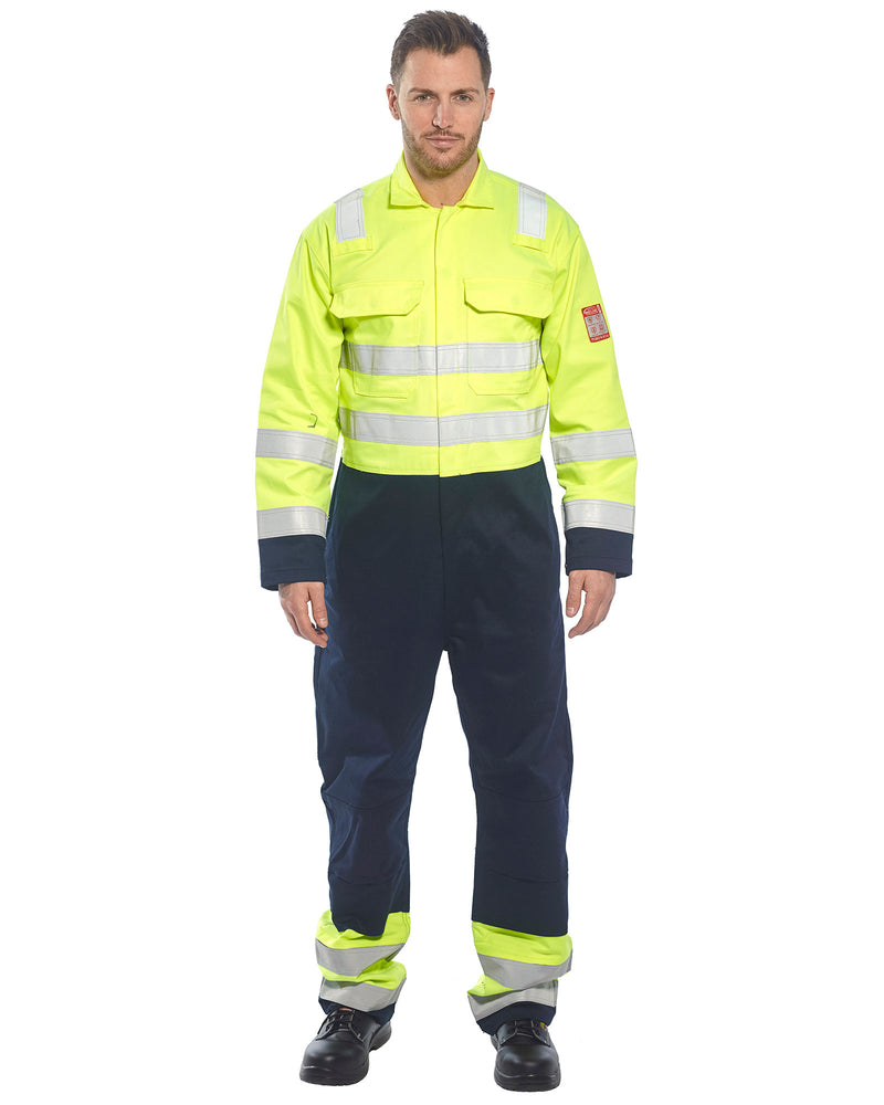 Portwest BIZ7 Hi-Vis Anti-Static Bizflame Pro Coveralls