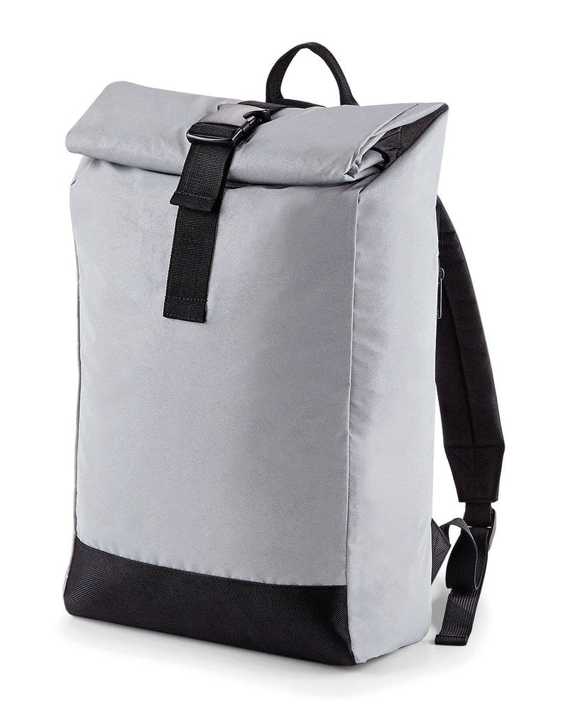 BagBase BG138 Reflective Roll-Top Backpack Silver