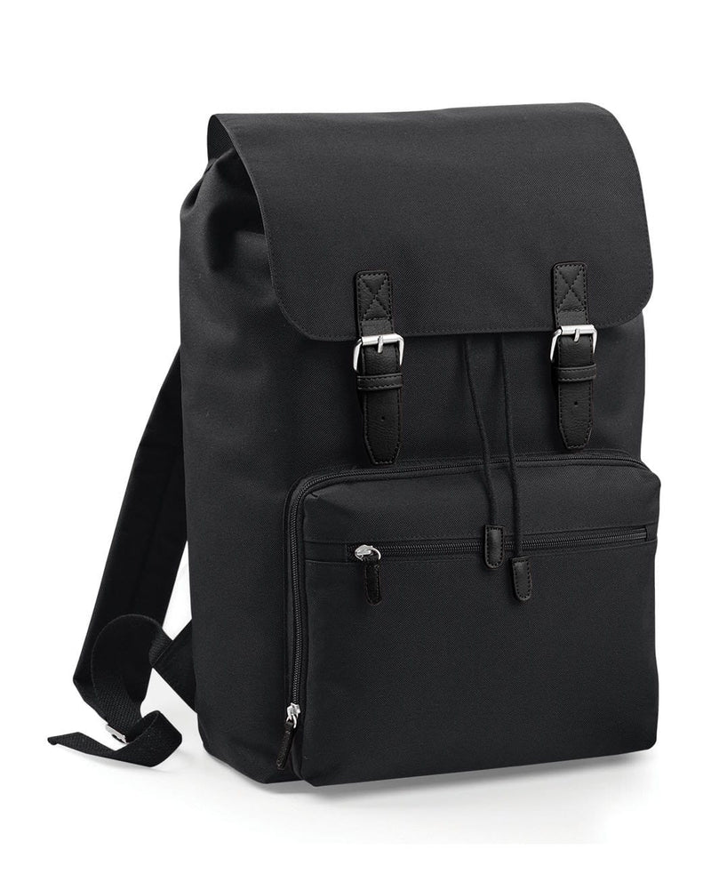 BagBase BG613 Vintage Laptop Backpack Black & Black