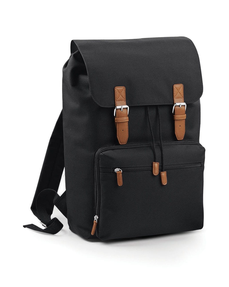 BagBase BG613 Vintage Laptop Backpack Black & Tan