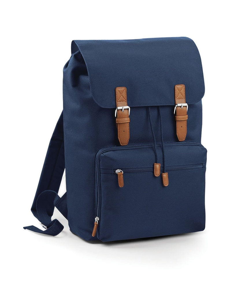 BagBase BG613 Vintage Laptop Backpack French Navy