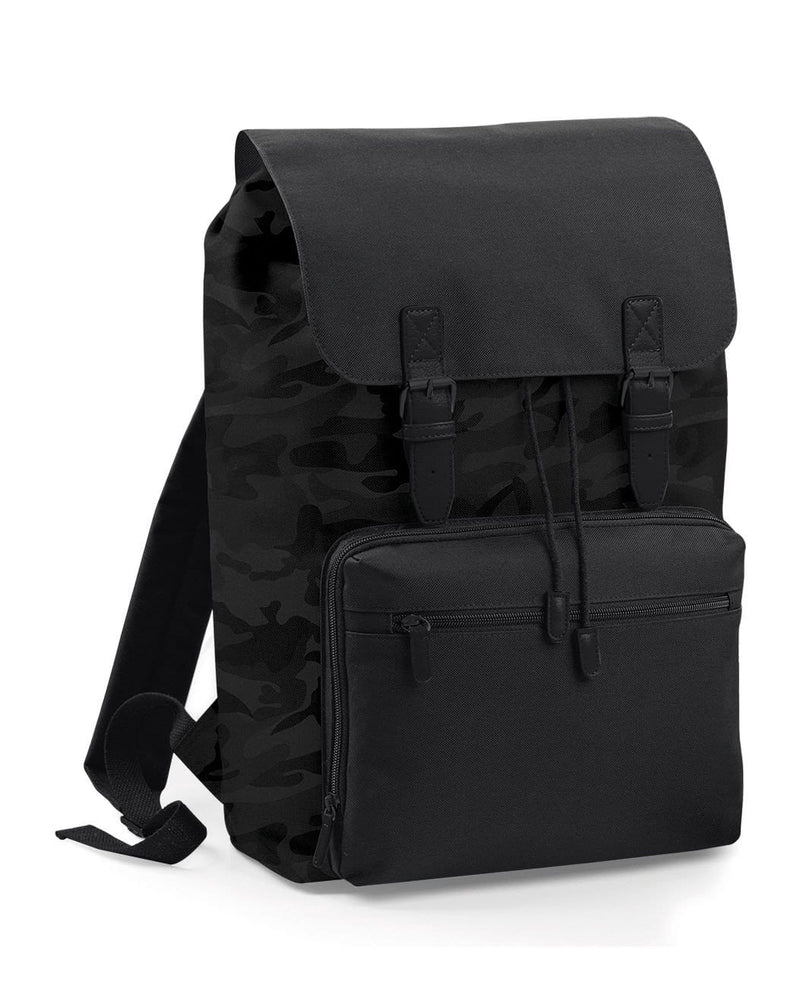 BagBase BG613 Vintage Laptop Backpack Midnight Camo