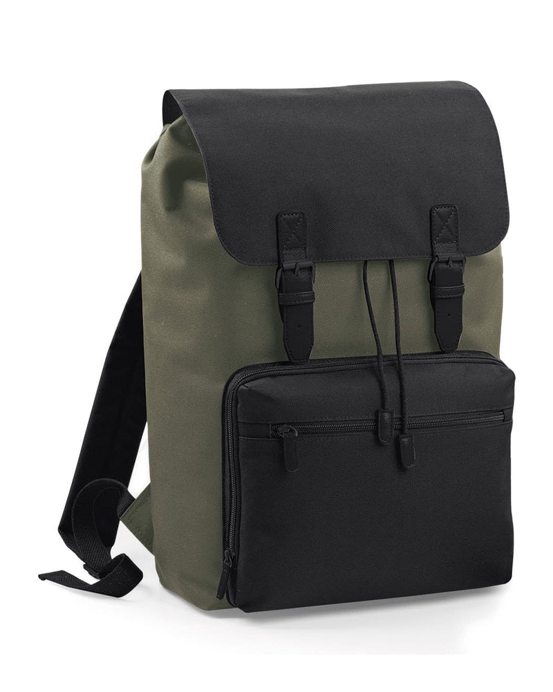 BagBase BG613 Vintage Laptop Backpack Olive Green