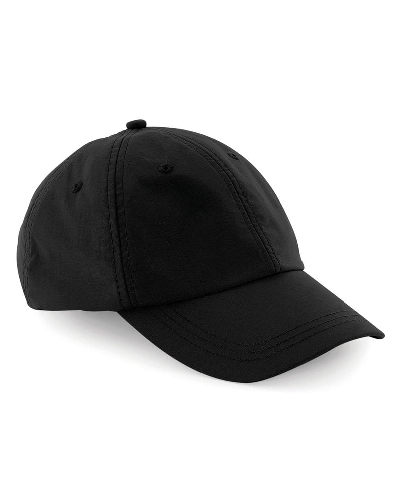 Beechfield B187 Tactel Outdoor 6 Panel Cap Black