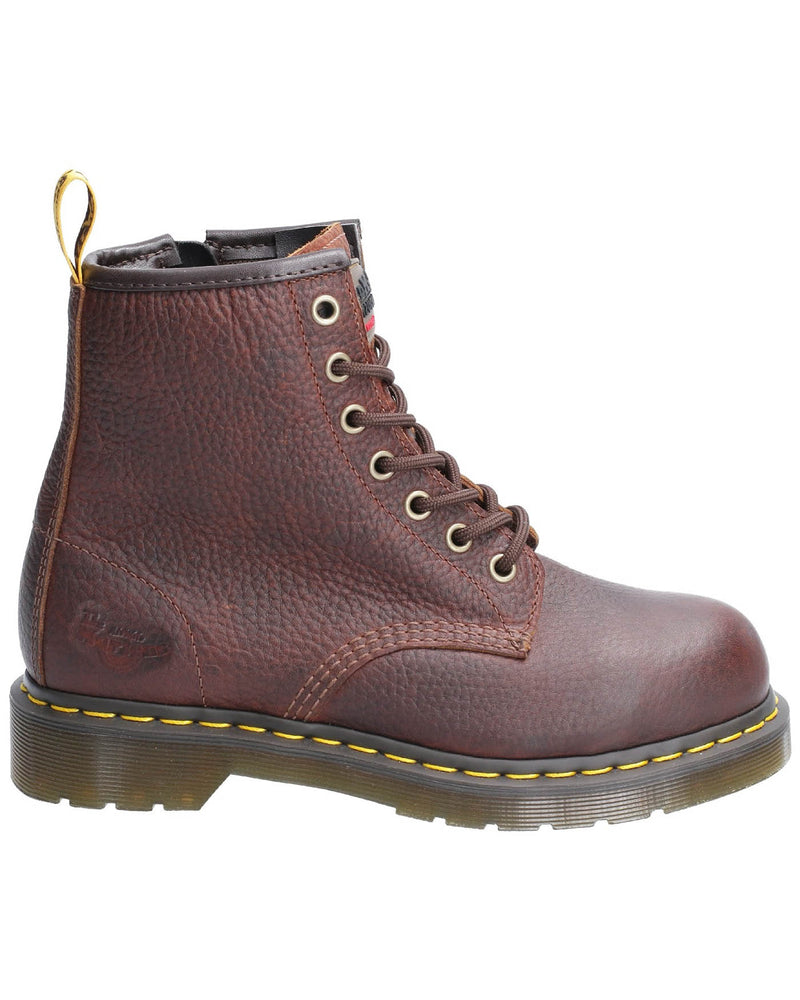Dr Martens Maple Ladies Zip Teak Safety Boots