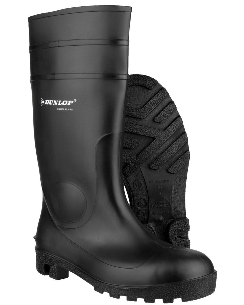 Dunlop Protomaster Black Safety PVC Wellington Boots